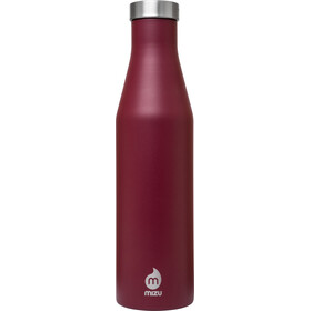 MIZU S6 - Recipientes para bebidas - with Stainless Steel Cap 600ml rojo/Plateado